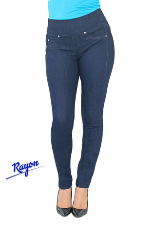 TrueSlim™ Pull On Jeggings Indigo Blue