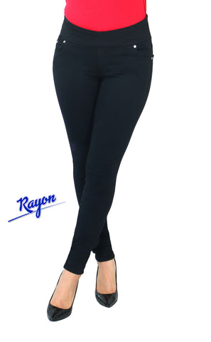 TrueSlim™ Pull On Jeggings Black