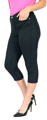 TrueSlim™ Black Basic Capri