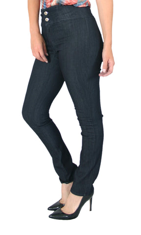 Trueslim Two Button Rayon Jeggings