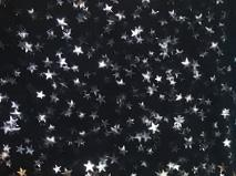 Black with Silver Foil Stars - Fancy Pants Fabrics