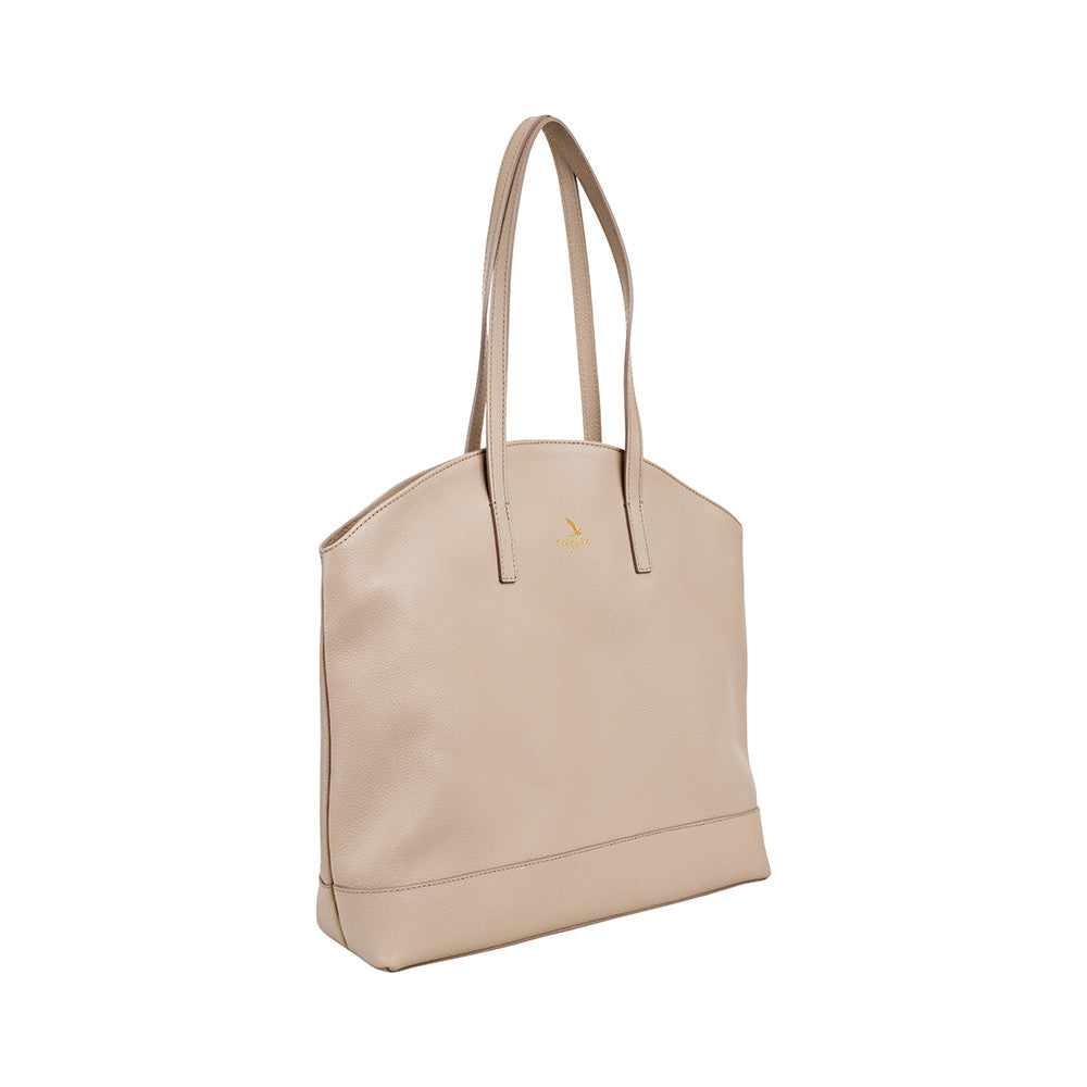 Beige Large Pebble Leather Tote Handbag online UK