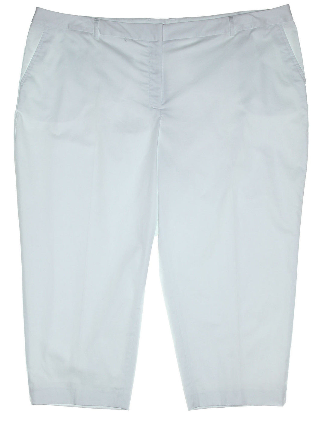Jones New York White Runway Slim Cropped Casual Pants
