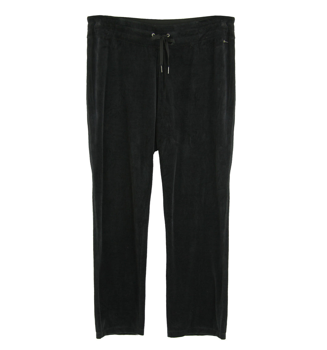 Calvin Klein Black Velour Straight Leg Casual Pants