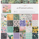 "Crate Paper Single-Sided Paper Pad 12""x12"" 48 pack  Maggie Holmes Flourish, 24 Designs & 2 Each"