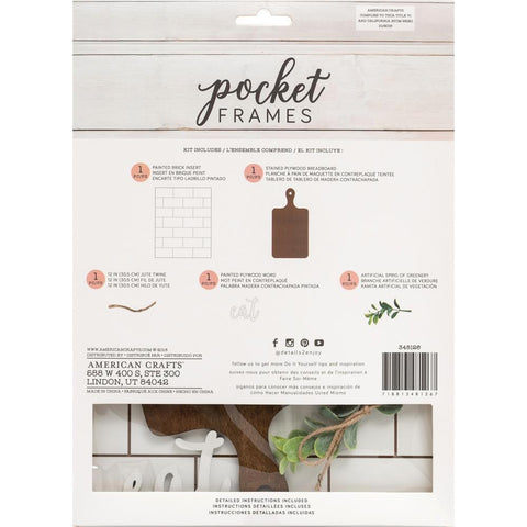 American Crafts - Pocket Frames Insert Kit 8X10in 5 per pack - Eat with Insert