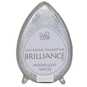 Brilliance Dew Drop Pigment Ink pad - Moonlight White
