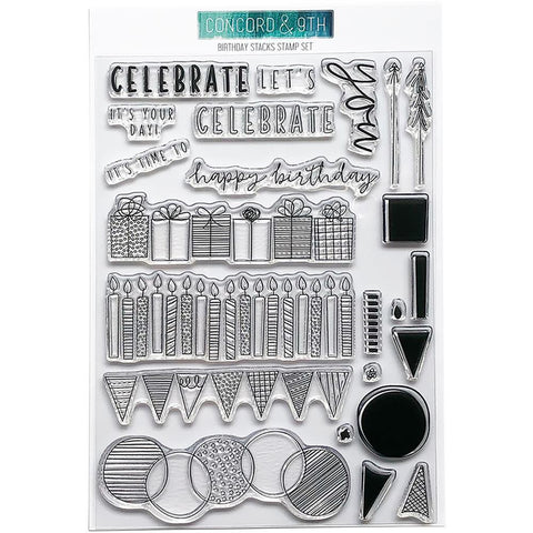Concord & 9th Clear Stamps 6x8 inch - Birthday Stacks