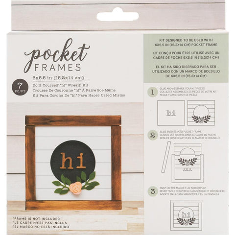 American Crafts Pocket Frames Insert Kit 6 inch X5.5 inch 7 pack Hi Wreath with Insert
