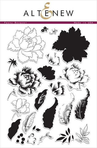 Altenew Clear Stamps - Peony Bouquet