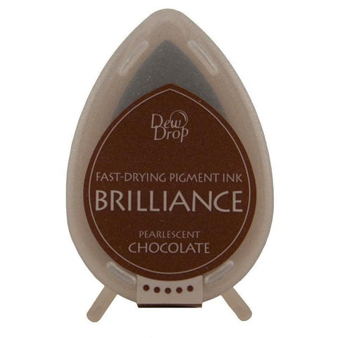 Brilliance Dew Drop Pigment Ink Pad - Chocolate Pearl