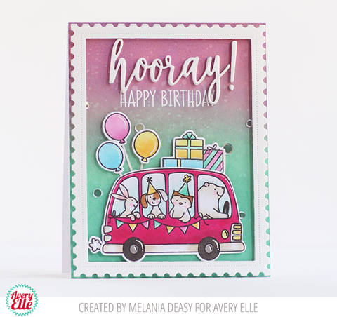 Avery Elle Clear Stamp Set 4x3 inch - Birthday Bus