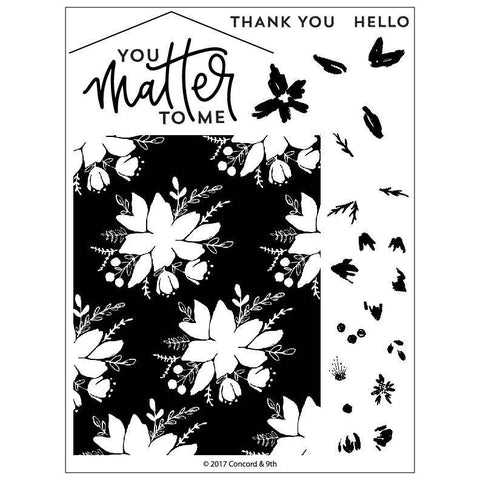 Concord & 9th Clear Stamps 6x8 inch - Blooms Fill-In
