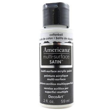 Americana Multi-Surface Satin Acrylic Paint 2oz - Cotton Ball