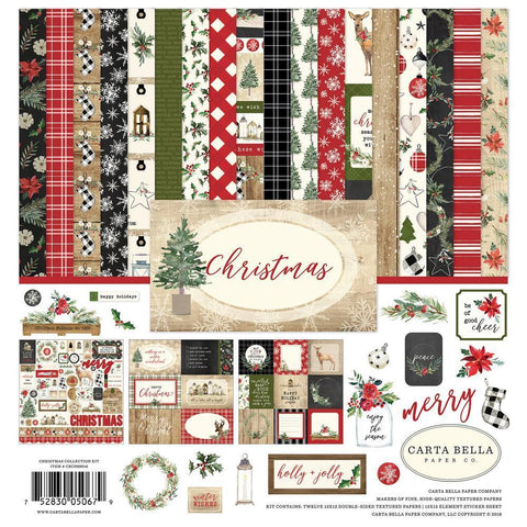 Carta Bella Collection Kit 12x12inch - Christmas