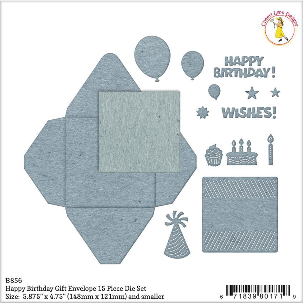 Cheery Lynn Designs Envelope Die Happy Birthday Gift