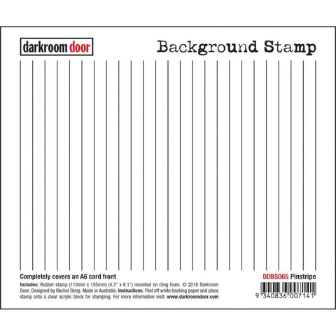 Darkroom Door Background Cling Stamp 4.3x6.1inch - Pinstripe