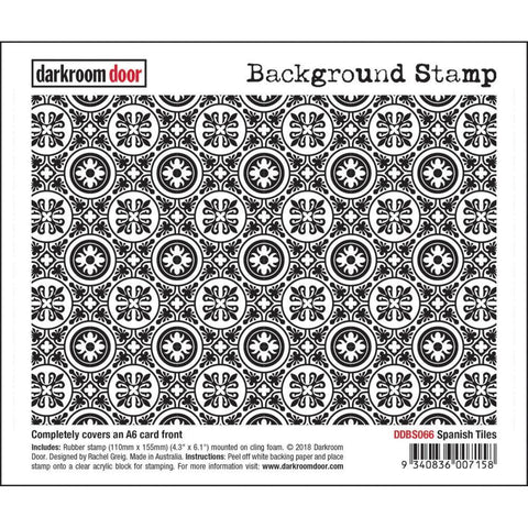Darkroom Door Background Cling Stamp 4.3x6.1inch - Spanish Tiles