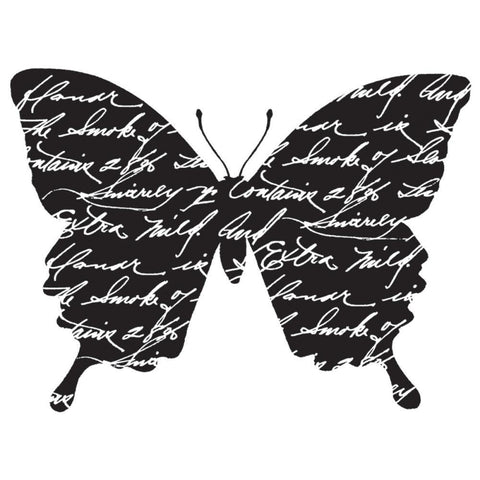 Darkroom Door Cling Stamp 3x2 inch - Butterfly Note