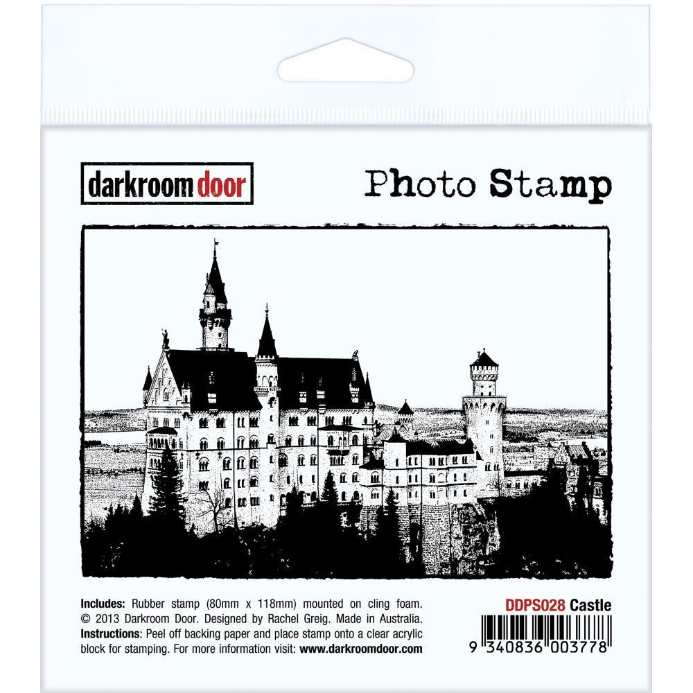 Darkroom Door Cling Stamp 4.5x3 inch - Castle