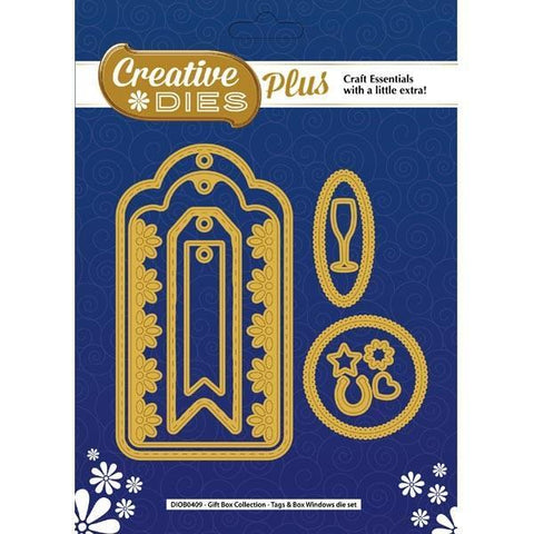 Creative Dies Plus Gift Box Collection - Tags & Box Windows