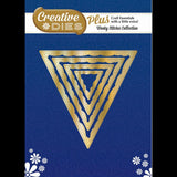 Creative Dies Plus - Wonky Stitches Collection - Nesting Triangles/Bunting