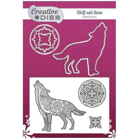 Creative Dies Mehndi Collection - Wolf Die & Stamp Set