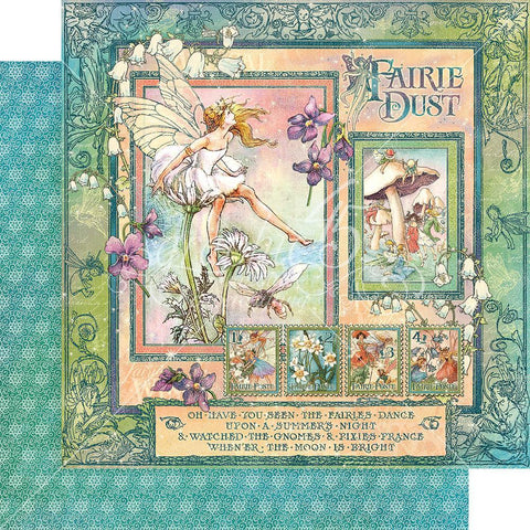 Graphic 45 - 12x12 inch Fairie Dust D/S Cardstock - Fairie Dust