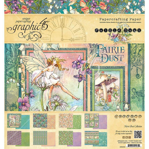 Graphic 45 - 8x8 inch D/S Paper Pad - Fairie Dust
