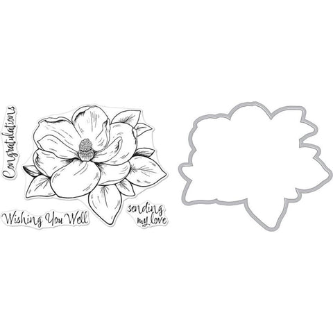 Hero Arts - Florals Clear Stamp & Die Combo - Magnolia