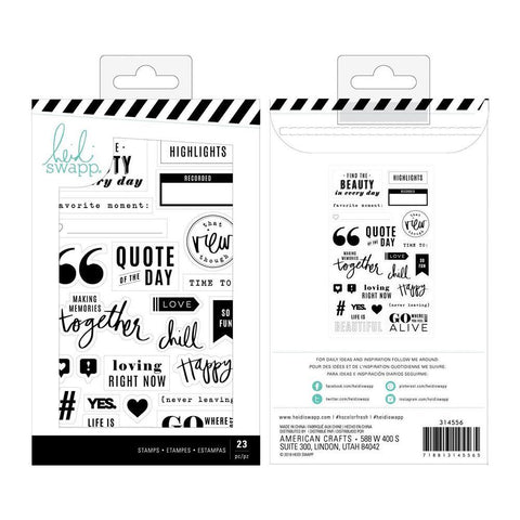 Heidi Swapp - Colour Fresh Clear Stamps - Words & Icons