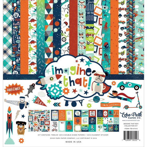 Echo Park Collection Kit 12x12 inch - Imagine That Boy