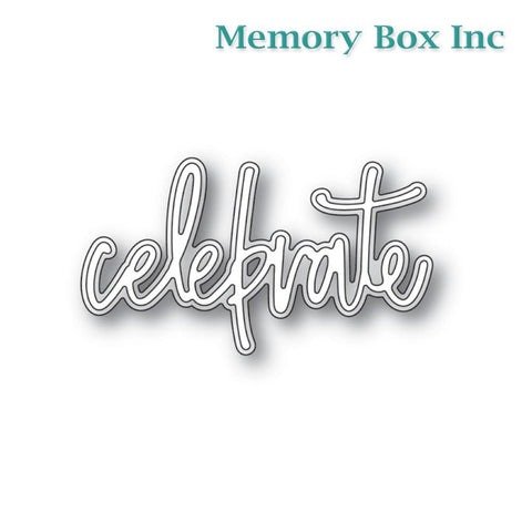 Memory Box - Celebrate Jotted Script craft die