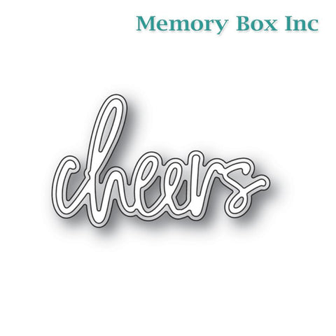 Memory Box - Cheers Jotted Script craft die