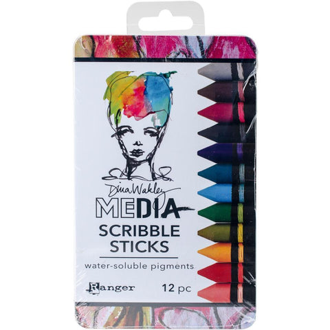 Dina Wakley Media Scribble Sticks 2 - 12 pack