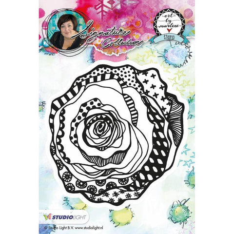 Art By Marlene Flowers Cling Stamp - Rose