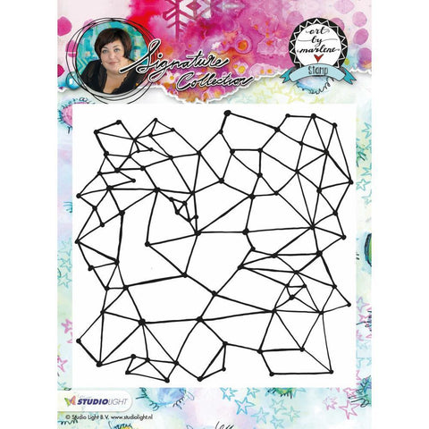 Art By Marlene Flowers Cling Stamp - Geometry