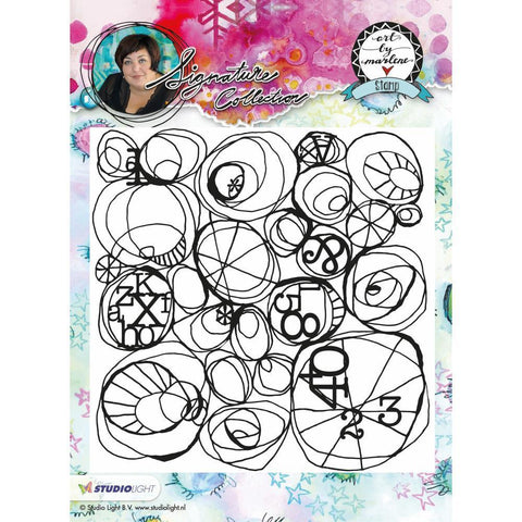 Art By Marlene Flowers Cling Stamp - Circular Abstract