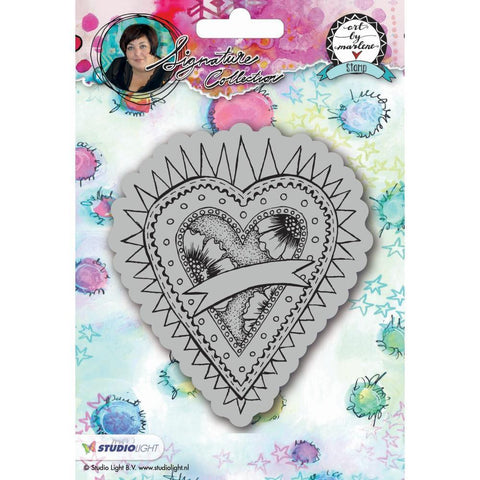 Art By Marlene 2.0 Hearts Cling Stamp