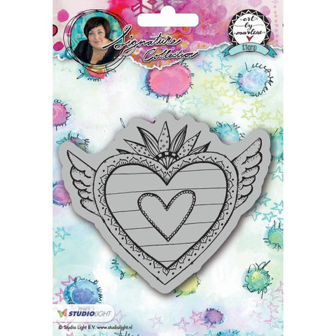 Art By Marlene 2.0 Cling Stamp - Hearts
