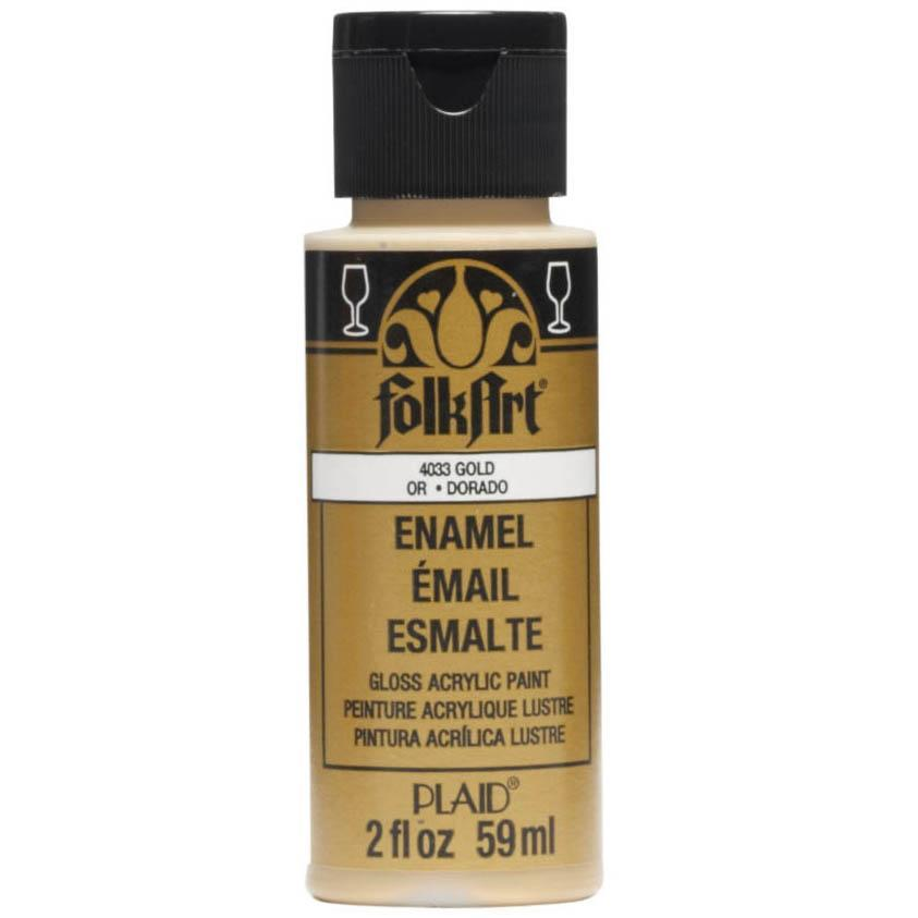 FolkArt Enamel Paint 2oz - Metallic Pure Gold