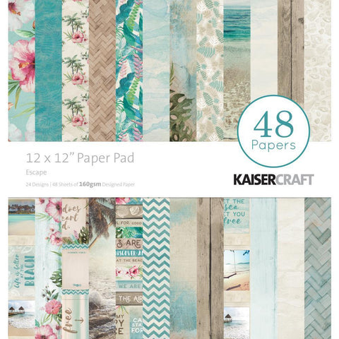 Kaisercraft Paper Pad 12x12 inch 48 pack - Escape