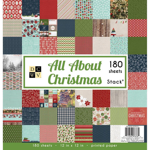 DCWV 12x12 inch Paper Stack - All About Christmas 180 pk