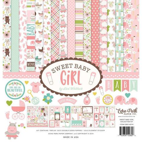 Echo Park Collection Kit 12x12 inch Sweet Baby Girl