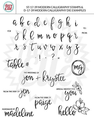 Avery Elle Clear Stamp Set 4x6 inch - Modern Calligraphy