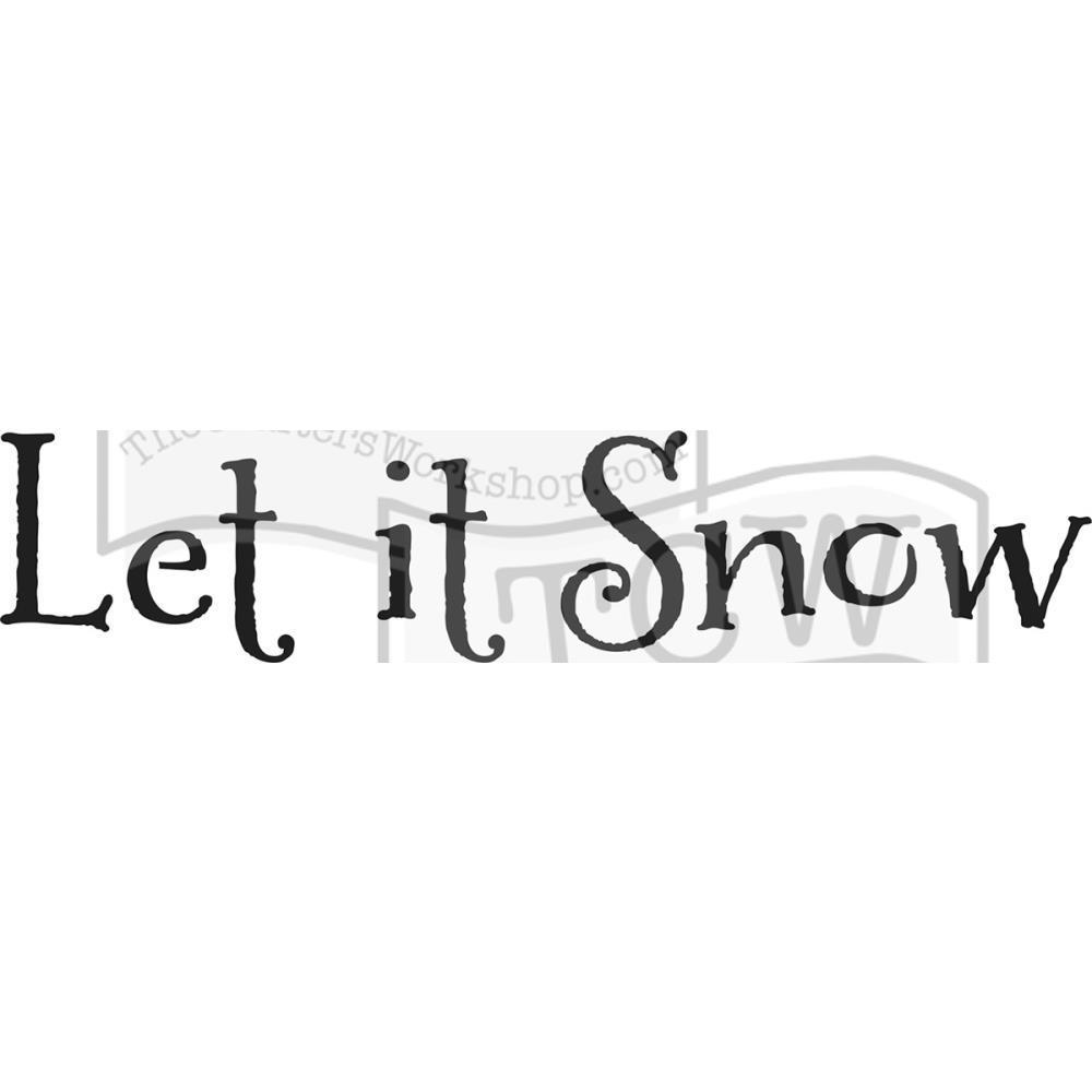 Crafters Workshop Rustic Sign Template 16.5x6 inch - Let It Snow