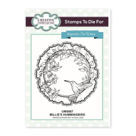 Creative Expressions - Millies Hummingbird Pre Cut Stamp