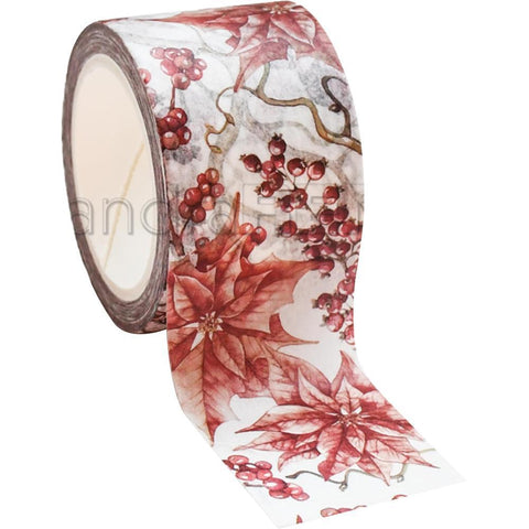 Alexandra Renke Christmas Wreath Washi Tape 30mmX10m - Red Winter Rose