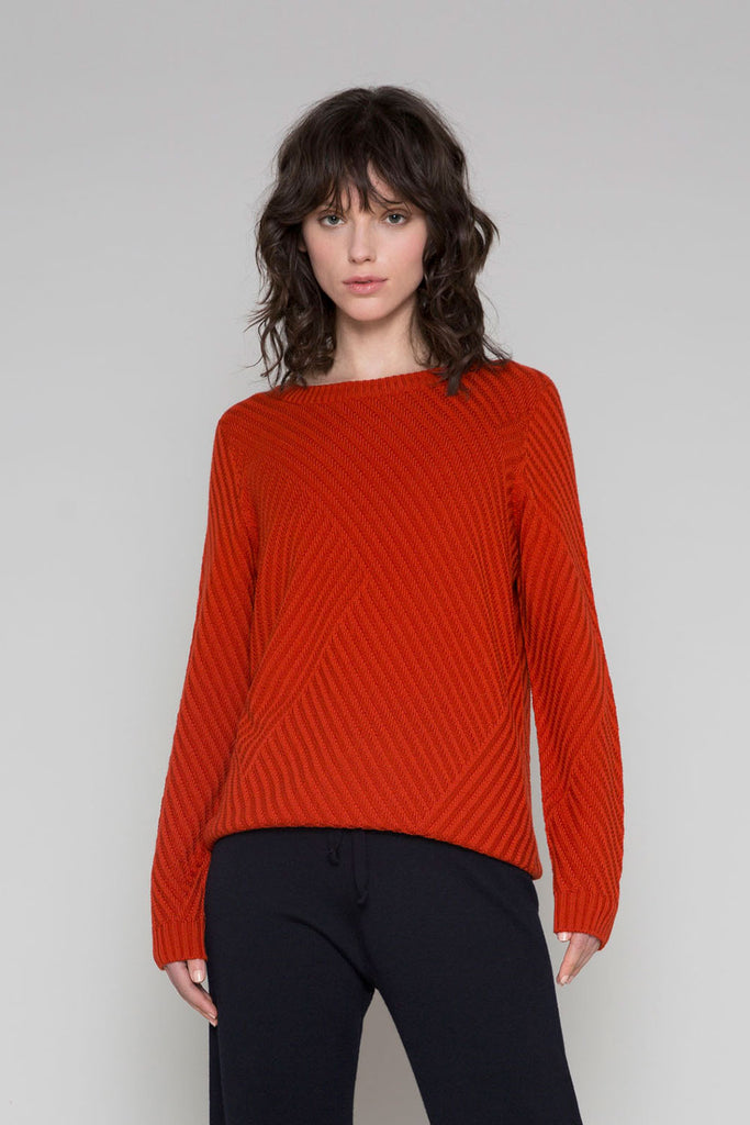 Standard Issue Rib Sweater - available in Cayenne & Alabaster