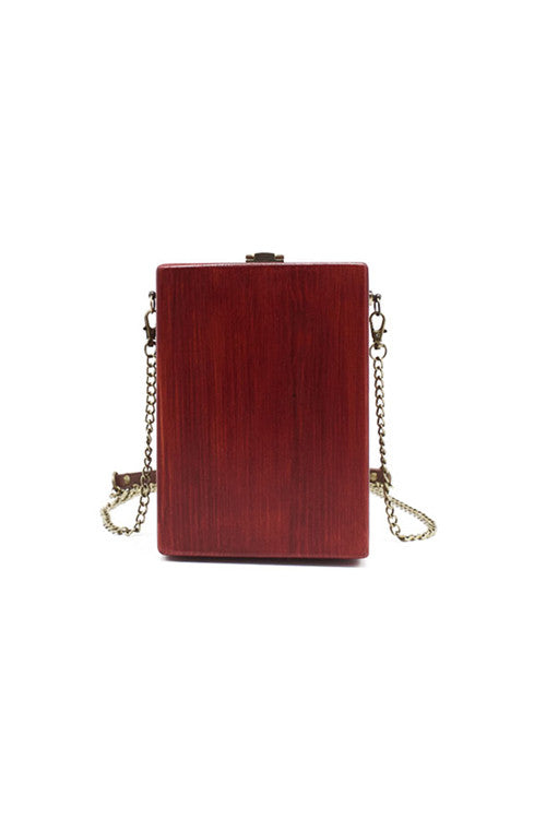 Red Wooden Shoulder Bag